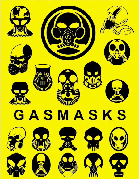 Gas Masks Vectors