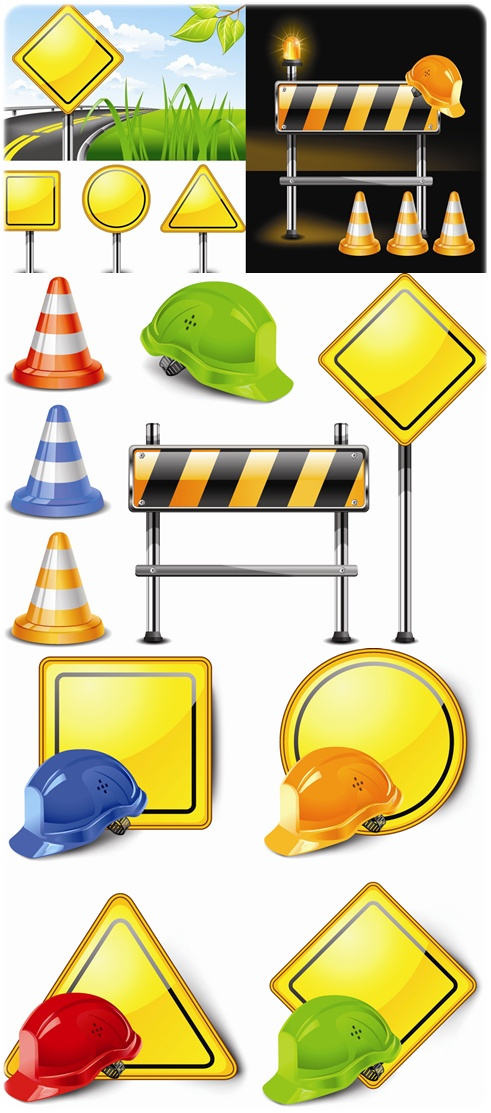 Stock_Vector_Construction_Signs